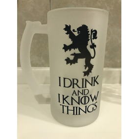 Tarro De Cerveza Game Of Thrones I Drink And Lannister Tyron