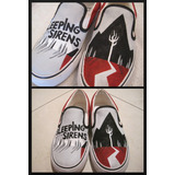 Tenis Sleeping With Sirens Aa Marca Collec Pintado A Mano