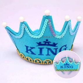 Corona Luminosa King Luz Led Rey Principe Fiesta Cumpleaños