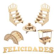 Muebles Para Mesa De Postres Y Dulces Xv Para Fiesta Kit E