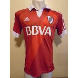 Camiseta Fútbol River adidas 2012 2013 Roja Bbva Suplente M