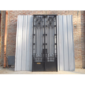 Antigua Puerta De Frente De Hierro 130x302cm Chapasusadas