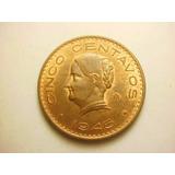 Moneda 5 Centavos Josefa Ortiz Fecha 1945 Cobre