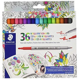 Plumon Marcador Staedtler Duo Color 36 Colores Doble Punta