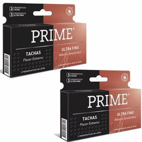 Preservativos Prime 2x1 Ultra Fino Y Tachas X12 Unidades