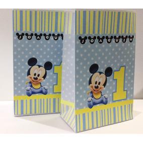 Bolsitas Golosineras Mickey Bebé Primer Añito X 10