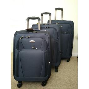 Pack 3 Maletas Viajes Expandibles Azul Marimo