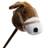 Cavalo De Pau Pelúcia Cavalinho Com Som Galope Brinquedo