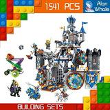 Alanwhale 2en1 Medieval Lion Royal Castillo Aclara Humano Vs