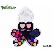 Paleta Com Sombra 3d Estojo Mais Amor Luisance L610-3d