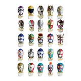 Lote De 10 Mascaras Para Adulto De Diversos Luchadores
