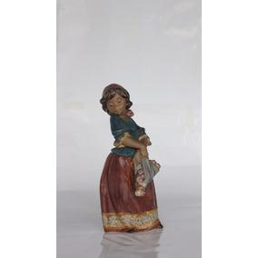 Figura Lladró En Gres - Nena 31cm