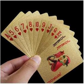 Original - Baralho Dourado Ouro Poker Truco E Jogos-promoção