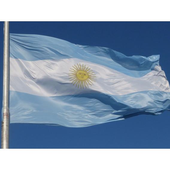 Bandera Argentina De Flameo*90x144 -reforzada!
