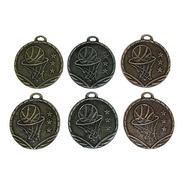100 Medallas Deportivas Basket Básquet Basketbol 3,5cm