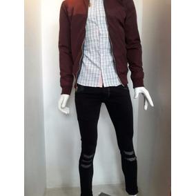 Camisa De Vestir Hombre Manga Larga Corte Slimh