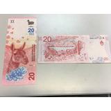 Billete 20 Pesos Guanaco 2017 - Nuevos