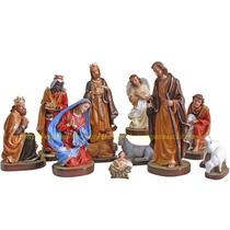 Presépio Natal Especial Natal 12 Peças Estatua De Até 40cm
