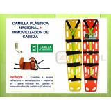 Camilla Plastica Con Inmovilizador Cabeza Envío Gratis!!