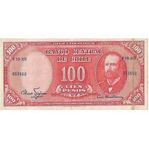!!! Chile 100 Pesos 10 Centesimos De Escudo S/c Imperdible !