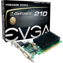 Placa De Vídeo Geforce - Gt210 1gb Ddr3 64bits Pci-e Evga