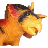 Lote De 3 Dinosaurios De Goma Rex ,velocirapto ,ankylosauru