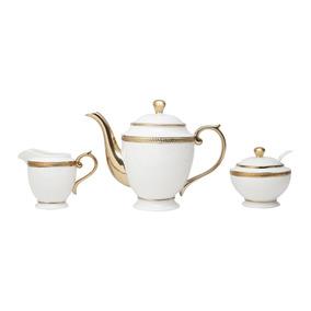 Jogo 3 Peças Para Café De Porcelana Paddy Wolff - R25114