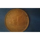 Moneda De Ynglaterra De One Penny De 1961 { F }