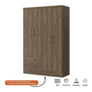 Closet Bertolini 584 4 Puertas 2 Cajones - Chocolate