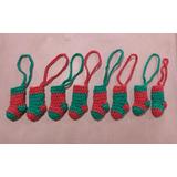 Adornos Navideños Botas Para El Arbolito Tejidos A Crochet