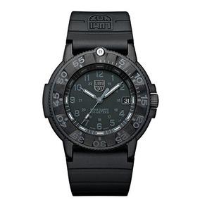 Luminox Mens 3001.bo Quartz Rubber Black Dial Watch