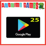 Google Play Tarjeta Prepaga Valor 25 Usd / Usa
