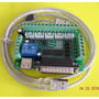 Cnc Router Breakout Board 5 Axis + Cable Lpt