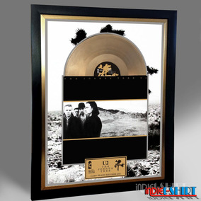 Cuadro Decorativo U2 Joshua Tree Coldplay Tipo Disco Oro Lp