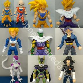 Coleção Completa 10 Bonecos Dragon Ball Z Articulado +brinde