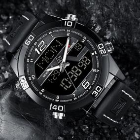 Relógio Masculino Naviforce 9128 Pulseira Couro C/caixa