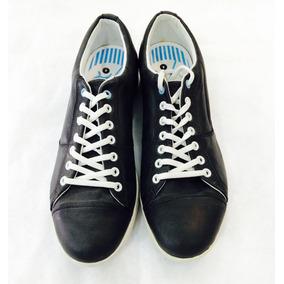 Zapatillas De Cuero Negras Urbanas Discontinuas Talle 44