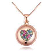 Collar Corazón Con Cristales De Zirconia - 1053
