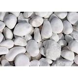 Piedra Decorativa Redonda Blanca De 25kg Para Jardines Envio