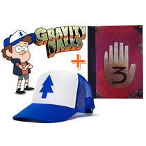 Gorra + Cuaderno Dipper Gravity Falls - Calidad Premium