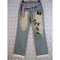 Calça Jeans 38 Union Bay Bordada Artesanal Lovely Lolla
