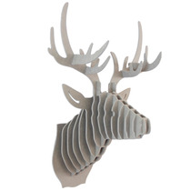 Venado Gris Cabeza Decora Animal Trofeo Valchro8mm Regalo