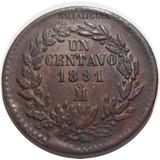 1 Centavo Juárez 1891 Mo - México - República Mexicana - Bu