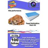 Papel Sublimático A4 Fundo Azul Havir120gr Pack 100 Folhas
