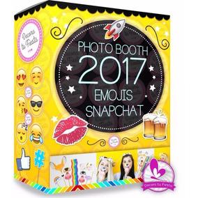 Kit Imprimible Photo Booth Prop Emojis + Empresarial