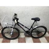 Bicicleta Mujer Canasta Guardafangos Usada Negra Alforja