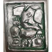 Ganesha Mini Cuadro Artesanal.