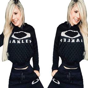 Conjunto Feminino Moleton Jacquard Matelasse Preto Oakley