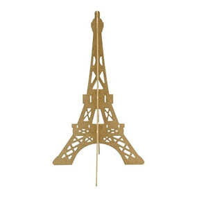Centro De Mesa O Recuerdo Torre Eiffel 3d Madera Mdf Xv Años