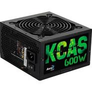 Fonte Gamer Atx 600w Kcas 80 Plus Bronze Pfc Ativo Aerocool